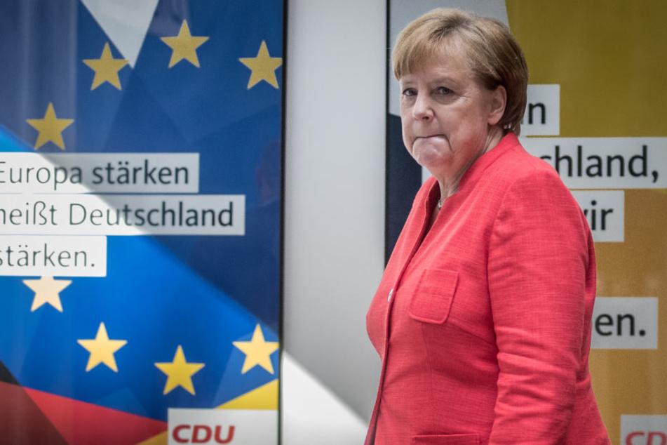 Sie soll gehen: Kanzlerin Angela Merkel.