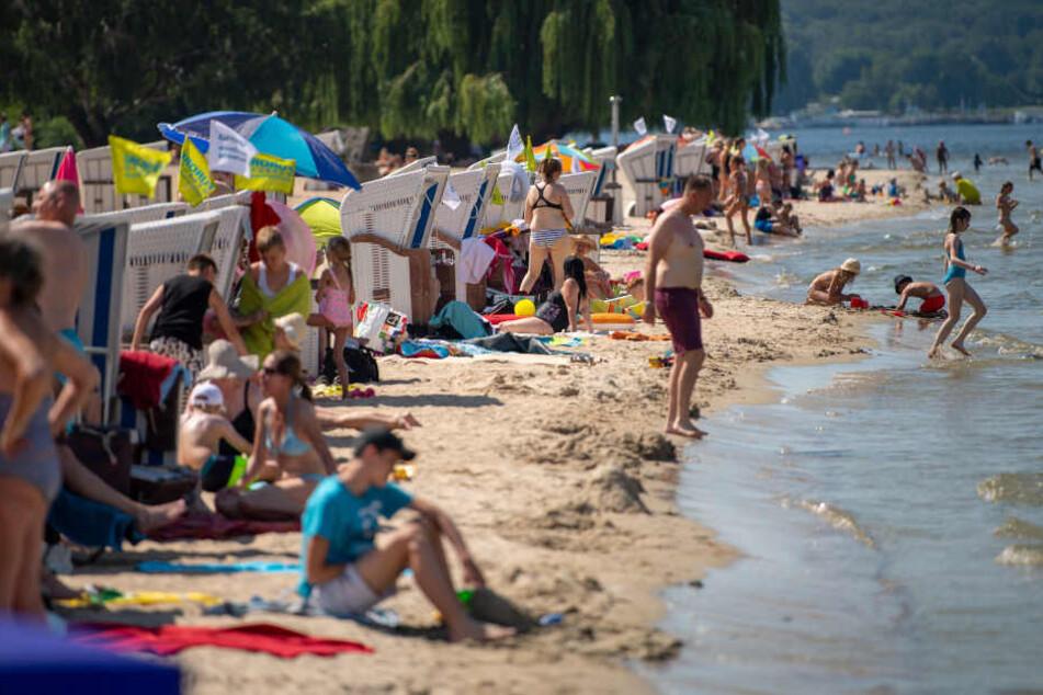Am Wochenende könnte es im Strandbad Wannsee wieder voller werden.
