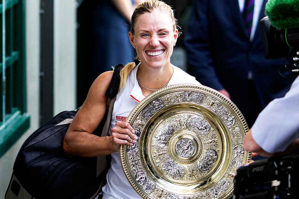 Angelique Kerber kommt nach ihrem Wimbledon-Sieg aus dem Strahlen gar nicht mehr heraus.
