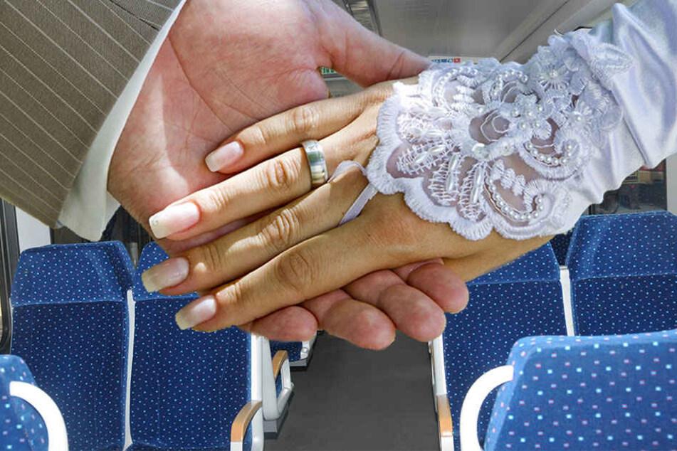 Hochzeit mal anders: Ein Thüringer Paar heiratet im Regionalzug.