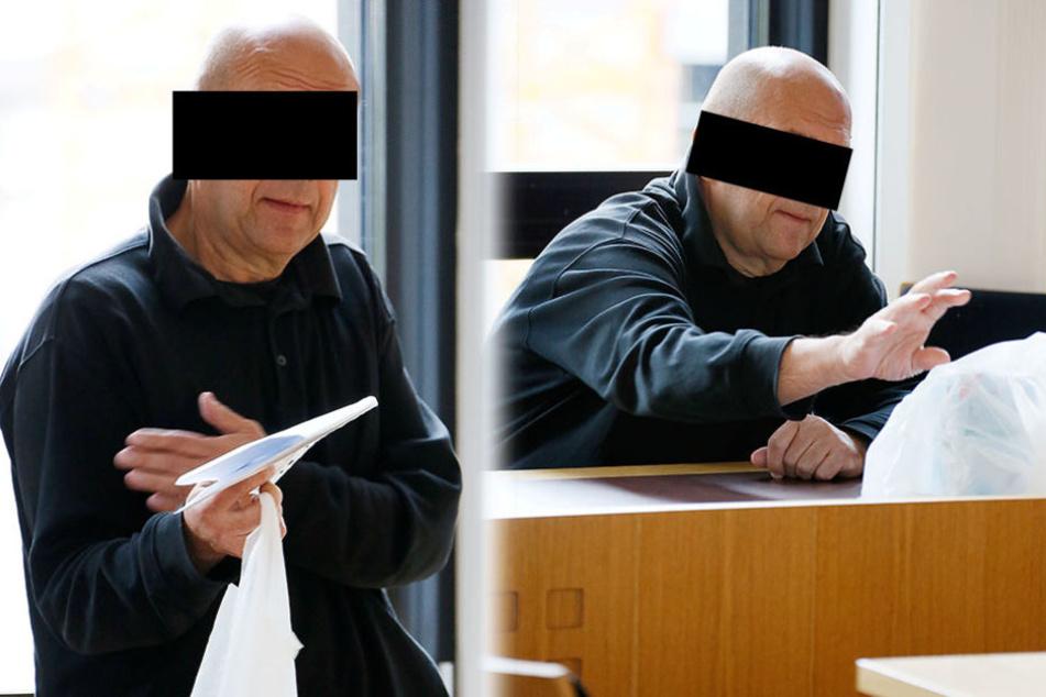 Dr. André B. (55) steht vor Gericht, weil er seinem Opfer in die Leiste getreten haben soll.