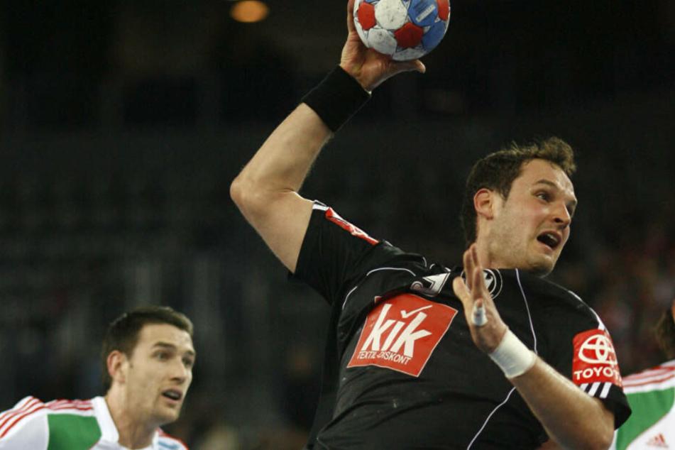 Tiedtke bei Handball-Weltmeisterschaft 2009 in Kroatien: In 62 Länderspielen erzielte der Kreisläufer 92 Tore.