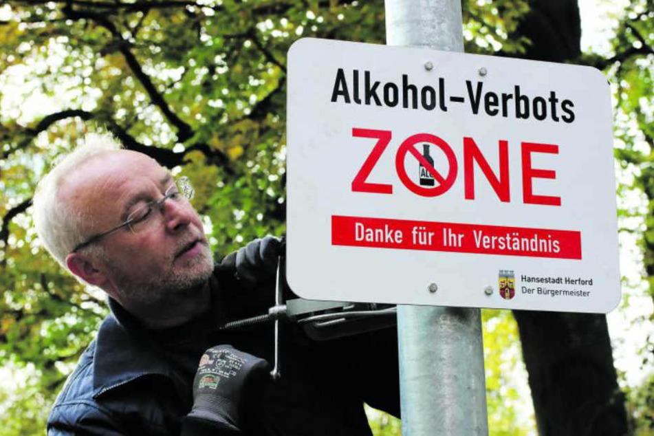 Seit Oktober 2017 gilt das Alkoholverbot in Herford.