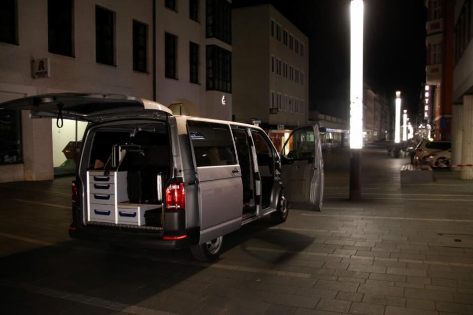 Die Spurensicherung am Tatort in Regensburg.