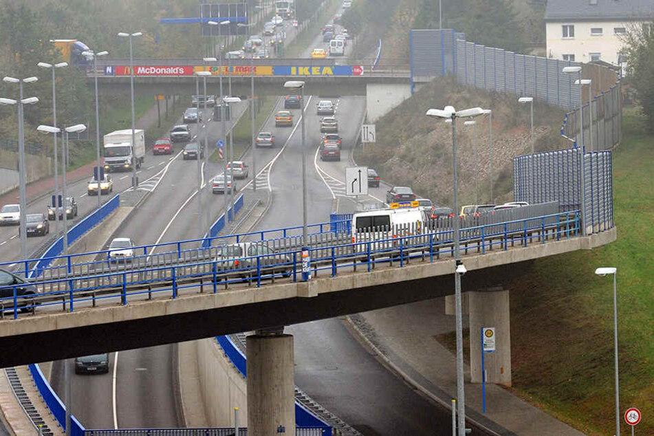 """""""Umbau"""" am Überflieger: Chemnitz will Unfallschwerpunkt entschärfen"""