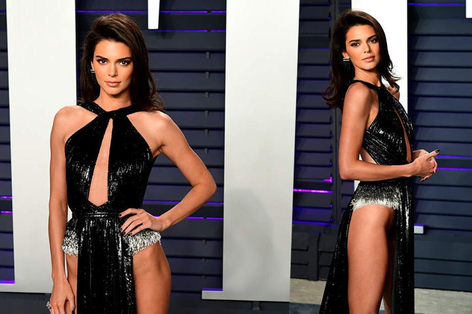 Kendall Jenner ließ untenrum tief blicken.
