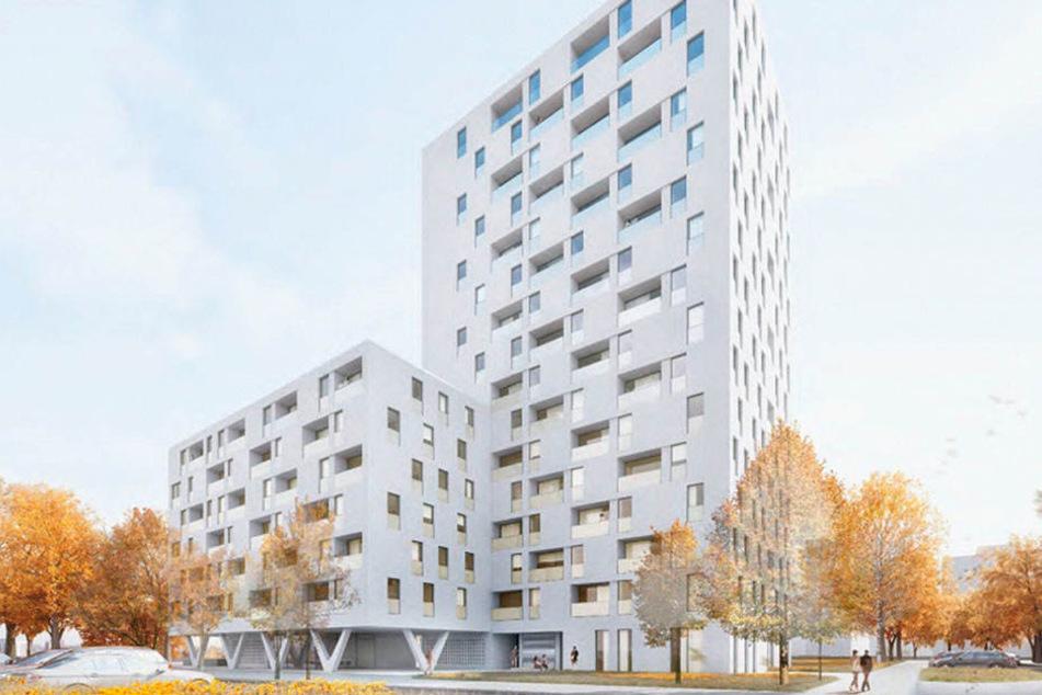 Dieser Wohnturm soll an der Florian-Geyer-Straße entstehen.