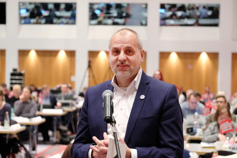 Gebhardt wurde mit 77,6 Prozent auf Platz eins der Landesliste der Linken gewählt.