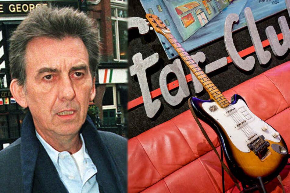 Die Gitarre des verstorbenen Beatles-Gitarristen George Harrison wurde für kurze Zeit in Hamburg ausgestellt.