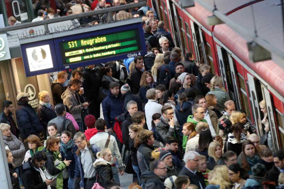 Die S-Bahnen sind gern genutzt.