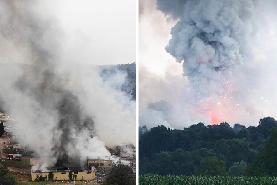 Feuerwerksfabrik fliegt in die Luft: Bis zu 189 Menschen eingeschlossen, 97 Verletzte, 2 Tote