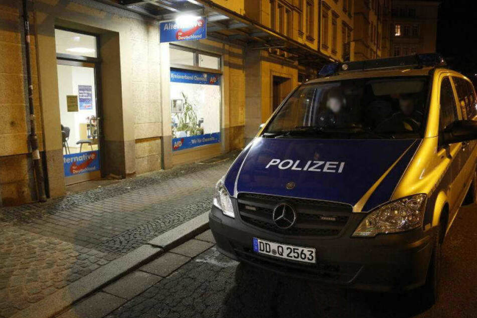 Auf das AfD-Büro in der Theaterstraße gab es schon mehrfach Anschläge. (Archivbild)
