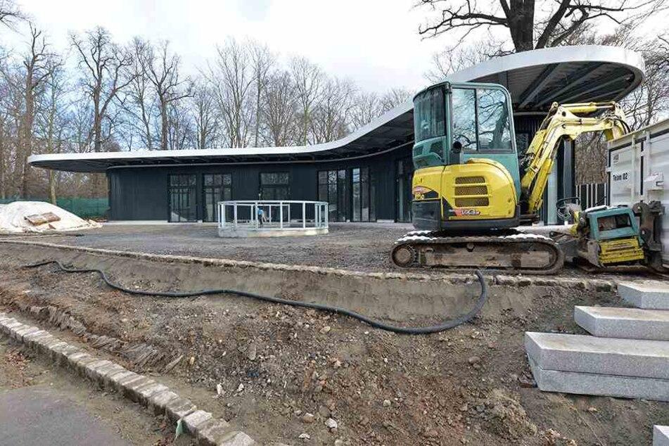 Das neue Pinguin-Café nimmt Gestalt an. Jetzt läuft der Innenausbau.