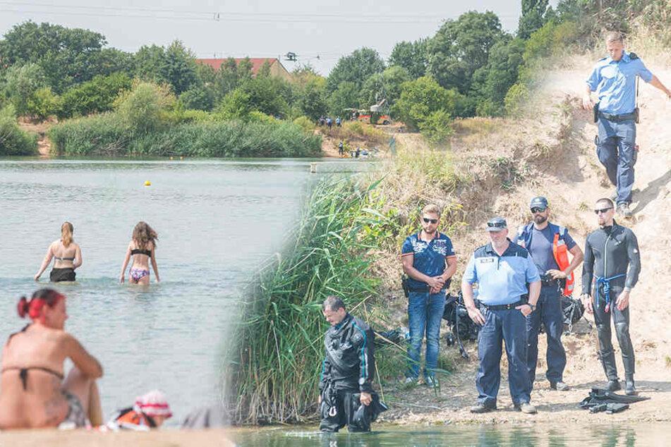 Polizei sucht Leiche, während andere baden