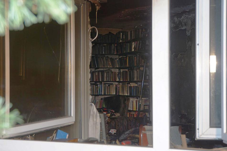 Ein Zimmer in der Krummen Straße wurde fast vollständig zerstört.