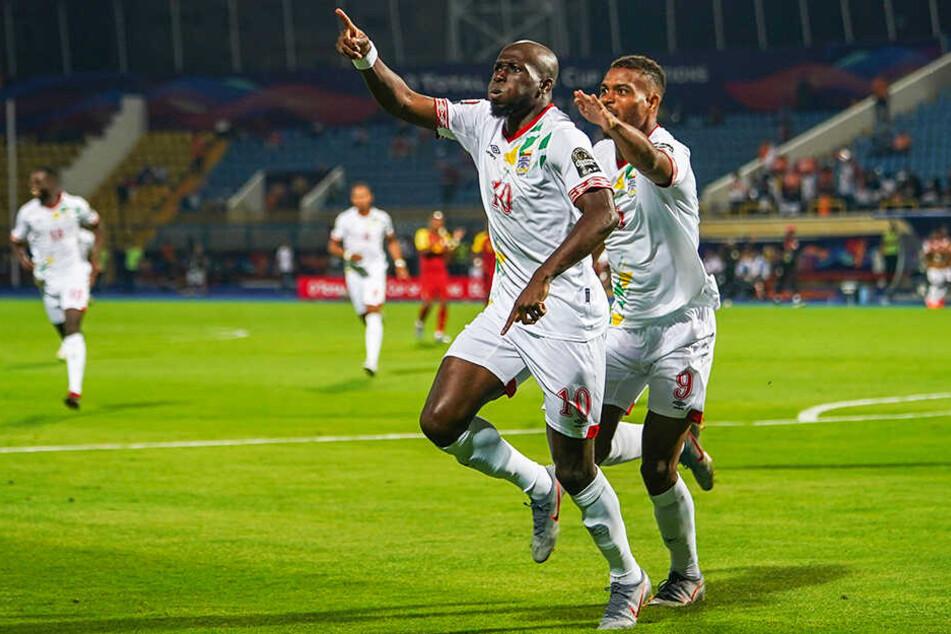 Mickaël Poté (l.) lief für den Benin gegen Ghana noch einmal zu großer Form auf.