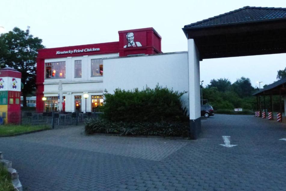Der angebliche Ort des Überfalls: das KFC-Schnellrestaurant an der Brunnenstraße.