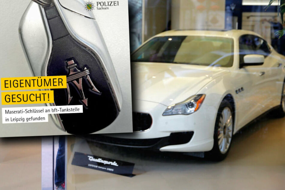 Ein ehrlicher Finder hat am Dienstag einen Maserati-Schlüssel bei der Polizei in Leipzig abgegeben.