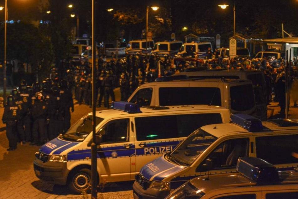 Die Polizei hatte nach den gewalttätigen Protesten in Chemnitz mit weiteren Demonstrationen gerechnet und Verstärkung angefordert.