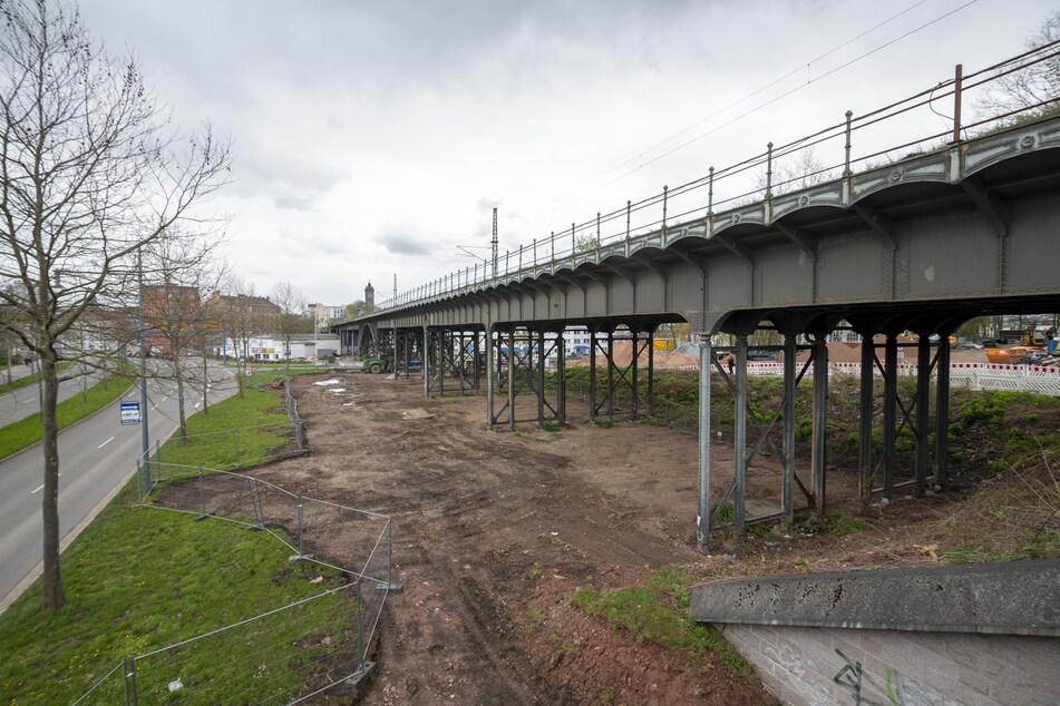 Das Viadukt über der Annaberger Straße wird ab 2022 ertüchtigt.