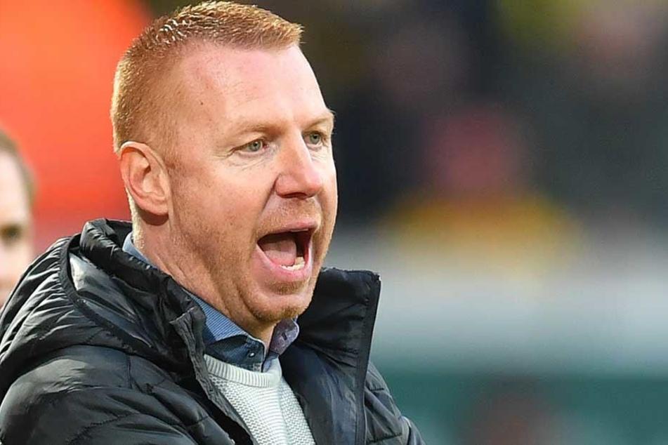Dynamo Coach Maik Walpurgis kritisierte das Nachlassen seiner Mannschaft nach der Pause, sprach von Fahrlässigkeit.