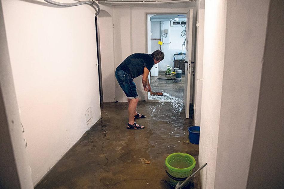 Auch einige Keller standen nach dem Unwetter unter Wasser.