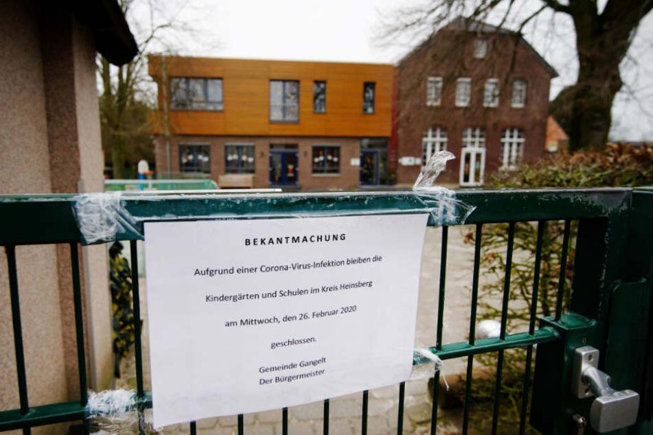 Kindergärten und Schulen blieben im betroffenen Kreis Heinberg bereits geschlossen.