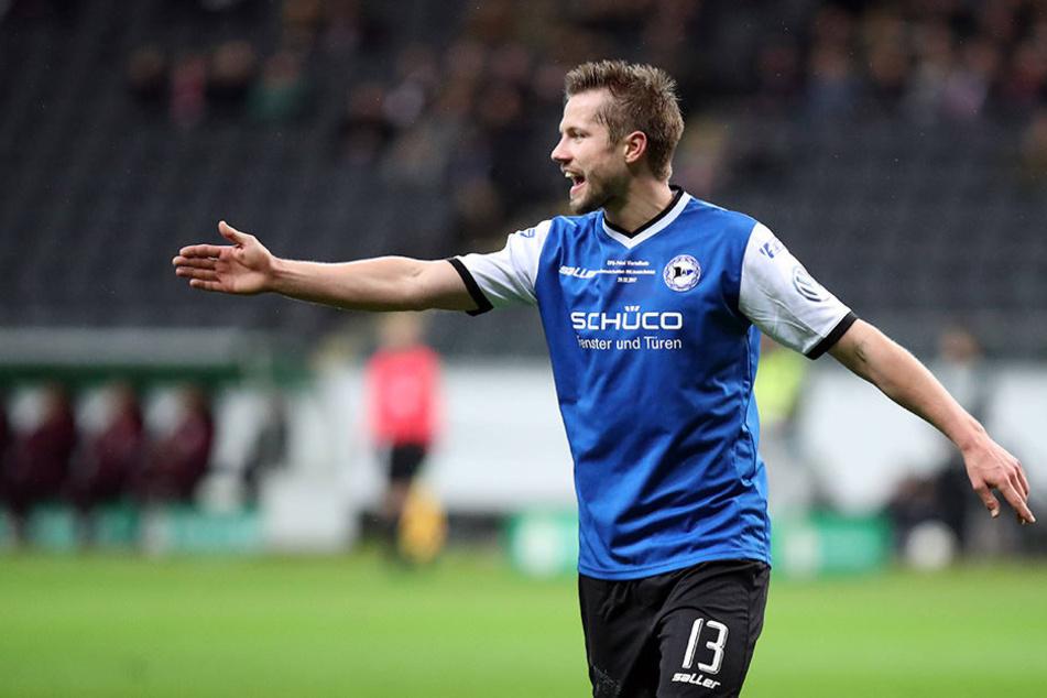 """Julian Börner (26) möchte das Spiel gegen FC Erzgebirge Aue """"rocken""""."""