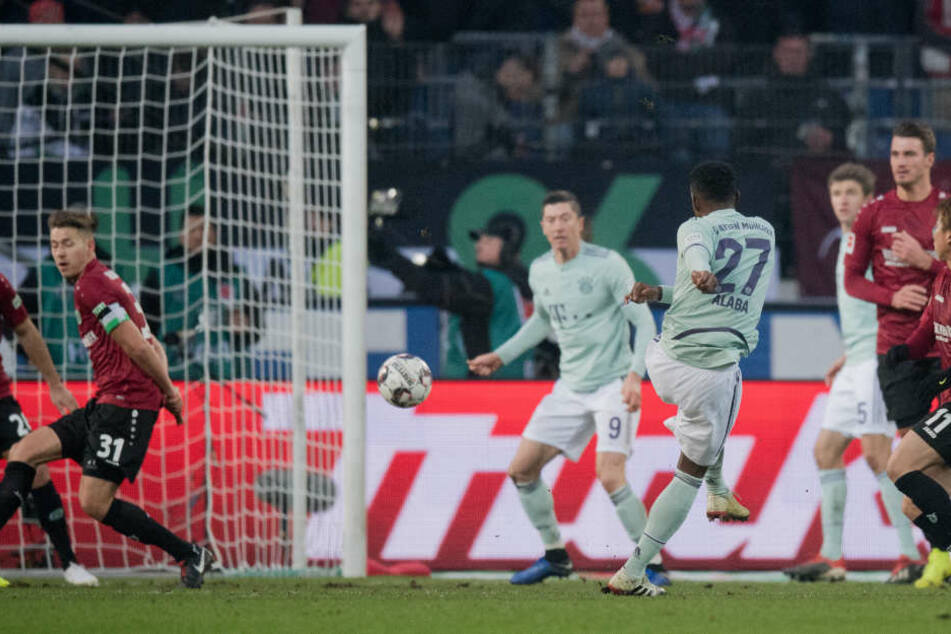 Alaba gelang in Hannover ein sehenswerter Treffer.