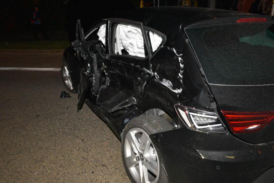 An dem Kleinwagen entstand ein Totalschaden.