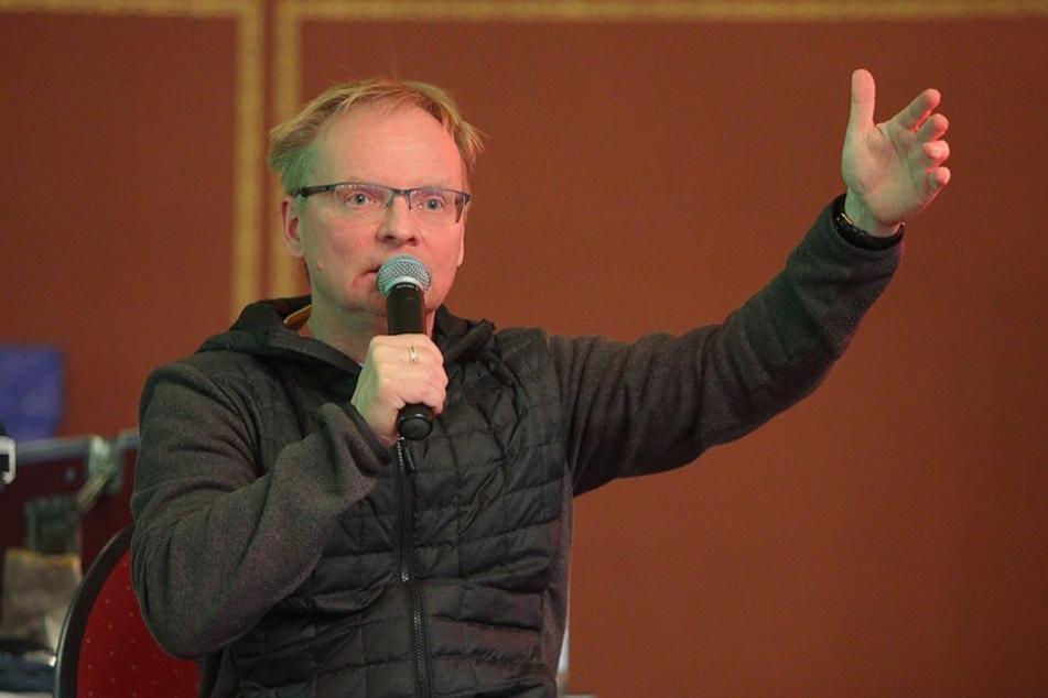 """""""Ich möchte einfach etwas für Obdachlose tun"""": Auch Kabarettist Uwe Steimle (53) unterstützt den umstrittenen Verein."""
