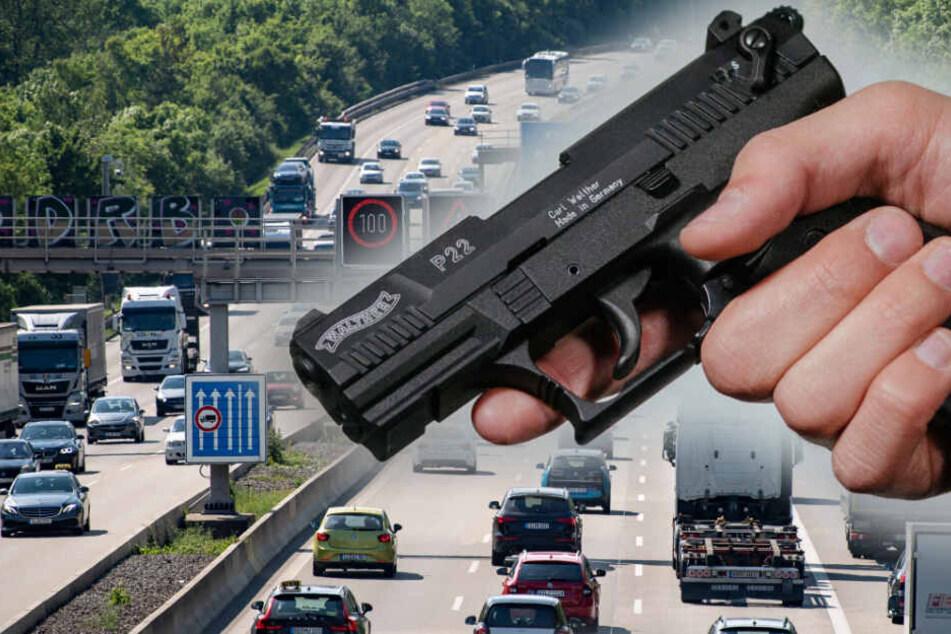 Schüsse auf der A8: Polizei schnappt Benz-Fahrer nach Wildwest-Aktion