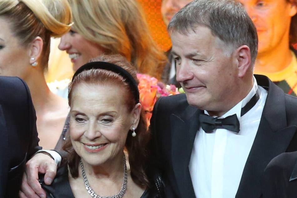 Ursula Karusseit (†79) und Thomas Rühmann (63) bei der Bambi-Verleihung 2014.
