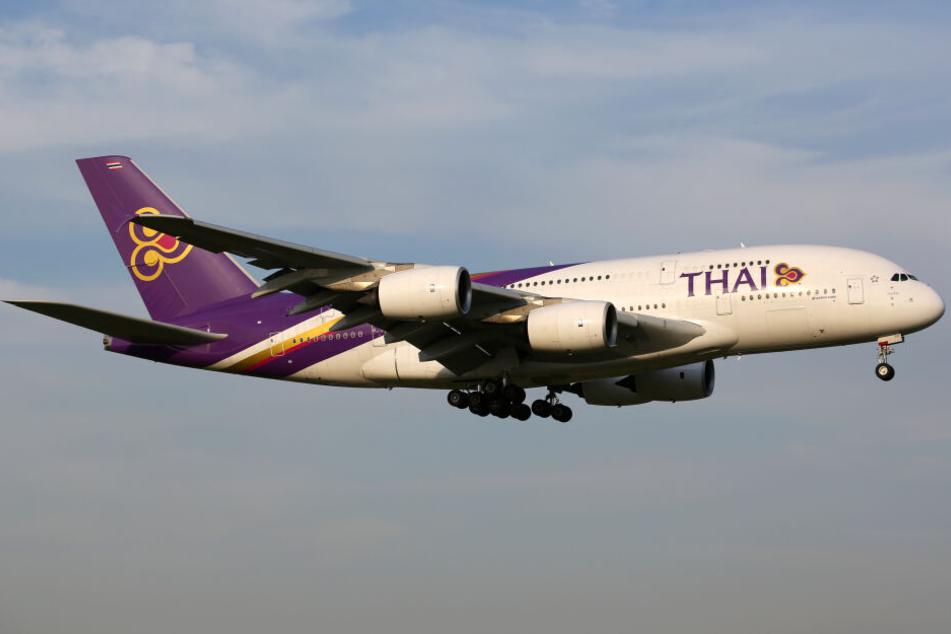 Bei dem Flugzeug handelte es sich um eine Maschine der Thai Airways (Symbolbild).