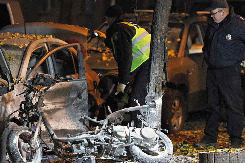 Bei einer Explosion in Kiew kam eine Person ums Leben.