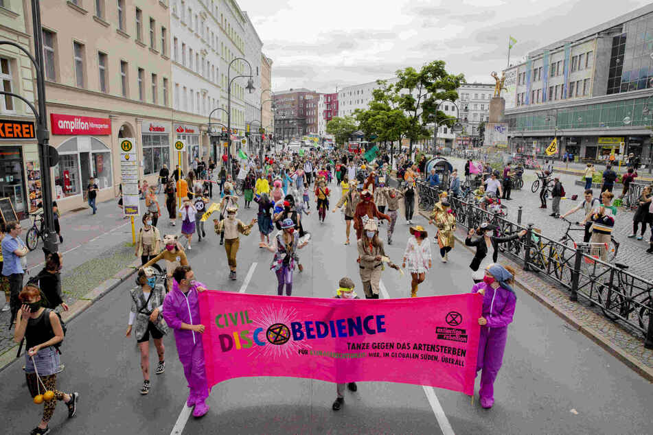 Umweltaktivisten protestierten in Berlin.