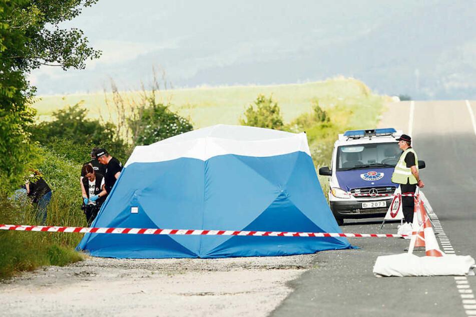 Die spanische Polizei entdeckte die Leiche der Tramperin nahe der Autobahn bei Asperrena.