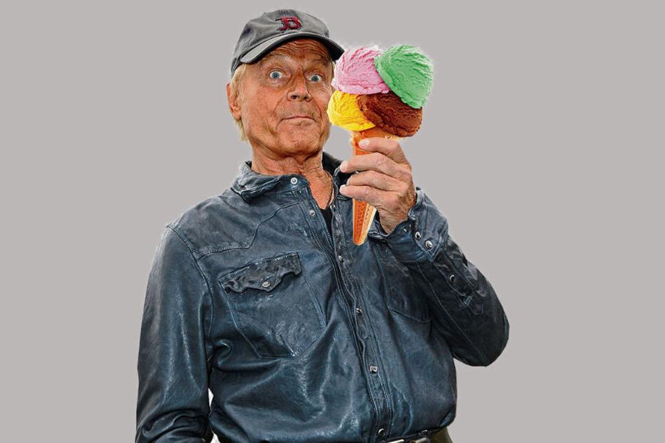 Terence Hill (80) bringt sein Girotti-Eis nach Dresden.