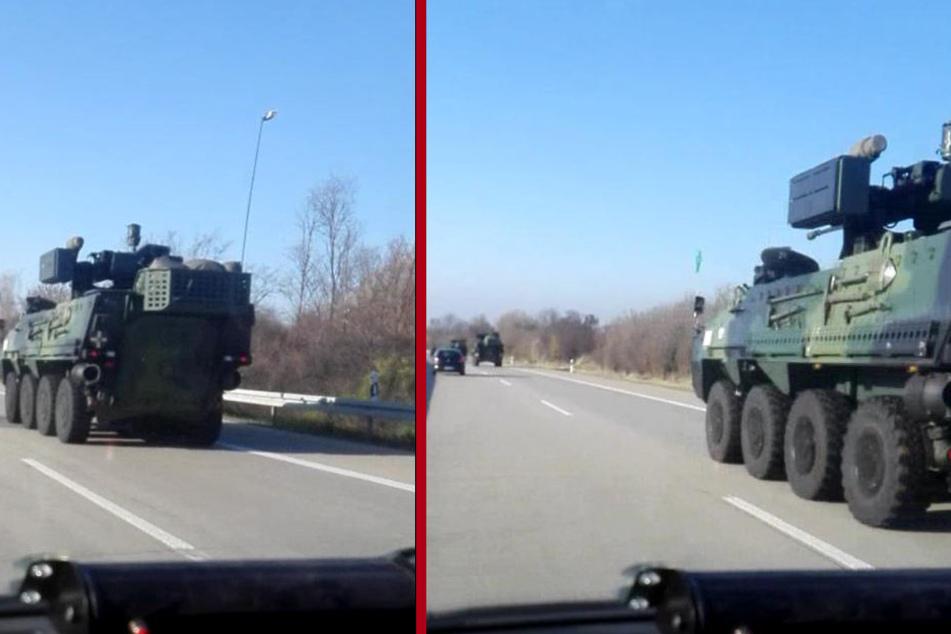 Wo wollen die denn hin? Ausländische Panzer rollen über A14