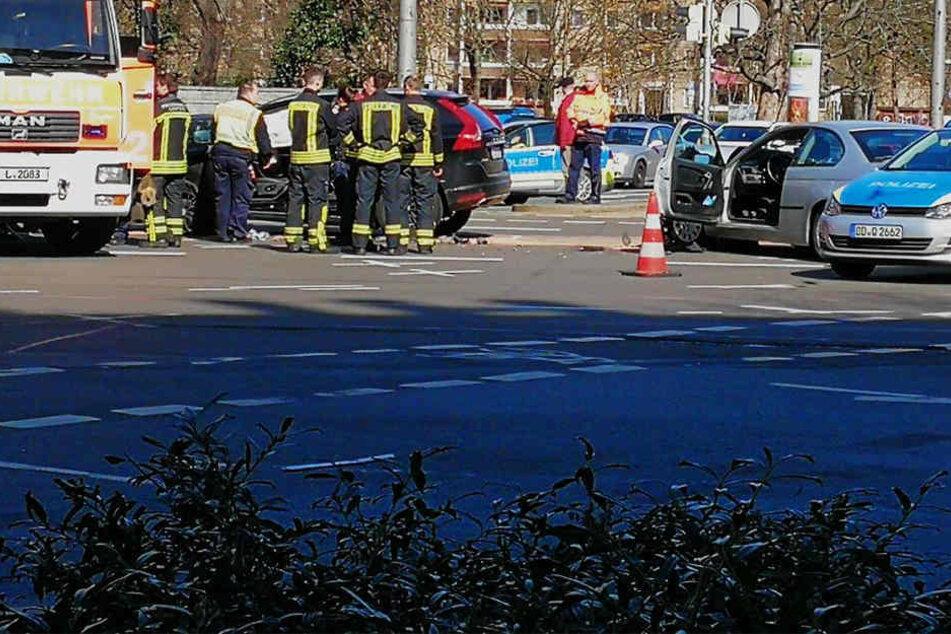 Schwerer Crash auf dem Leipziger Innenstadtring sorgt für lange Staus
