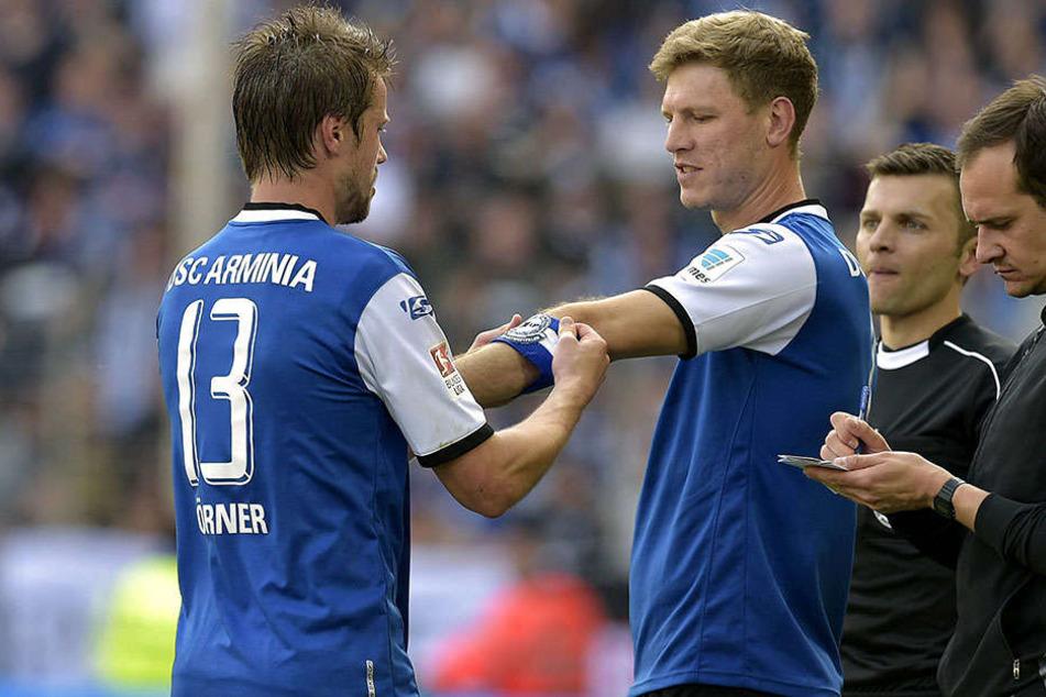 Kapitäne unter sich: Julian Börner (li.) vertrat Fabian Klos in der Endphase der Saison als Kapiutän.