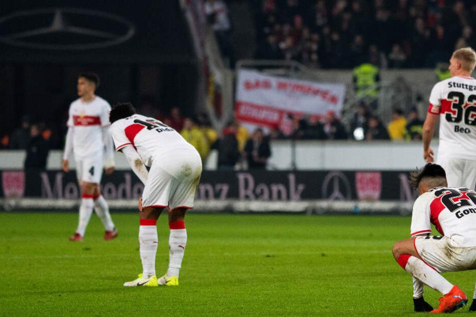 Niedergeschlagenheit beim VfB: Im letzten Moment gegen den SC Freiburg (2:2) den Befreiungsschlag verpasst.
