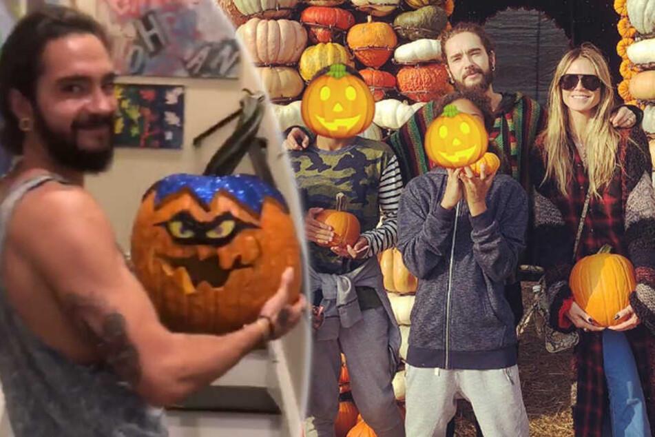 Halloween-Fieber bei den Klums: Tom Kaulitz macht Heidis Kürbisse schön