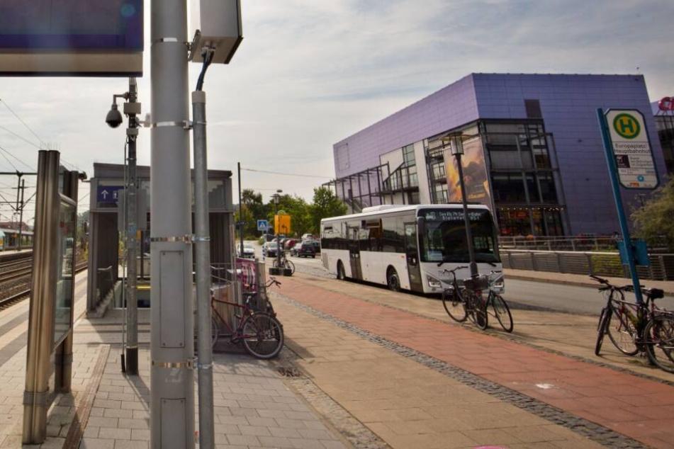 Hinter dem Hauptbahnhof soll die neue Fernbus-Hatestelle entstehen.