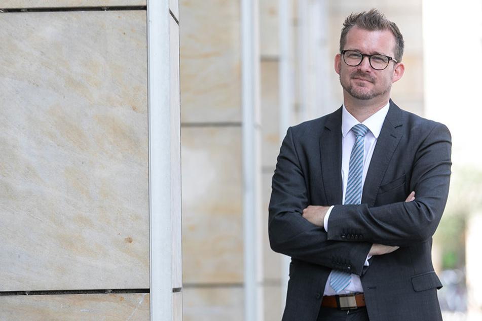 Baubürgermeister Raoul Schmidt-Lamontain (41, Grüne).
