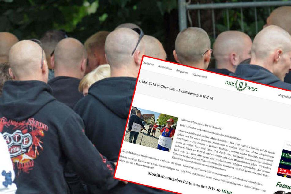 Am 1. Mai ruft die Kleinpartei Der III. Weg in Chemnitz zum Naziaufmarsch auf.