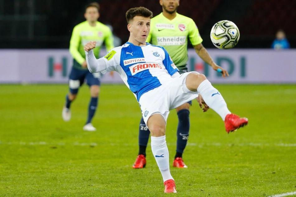 Sein Stammverein, die Grasshopper Zürich, verliehen den 23-Jährigen an den FK Sarajevo.