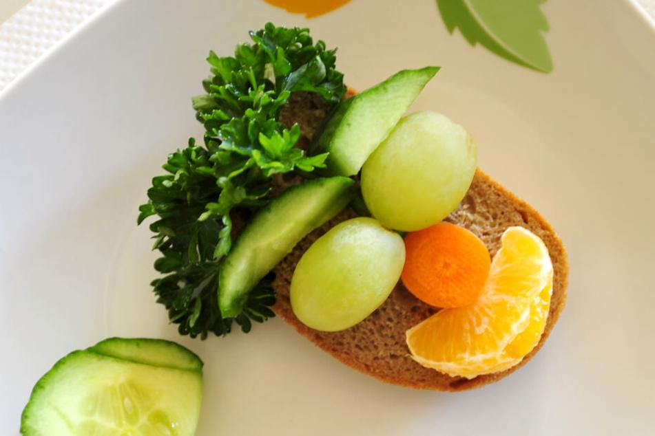 Lustig, lecker, gesund - so belegten die Kinder ihre Brote bei der Aktion des Gesundheitsamtes.