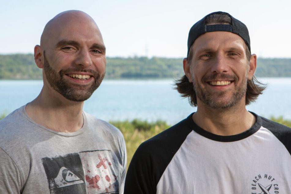 Die Initiatoren des Projekts: Martin Schlimpert (li.) und Mike Berus. Beide sind gebürtige Leipziger und begeisterte Surfer.