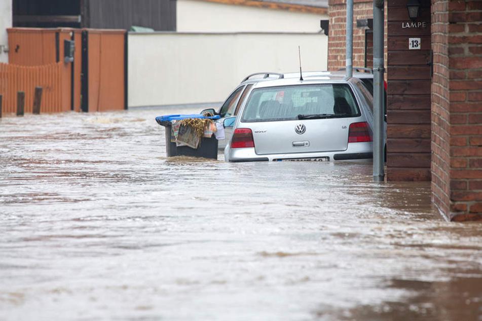 Auch in Thüringen sorgte der Starkregen für heftige Überschwemmungen - passiert das auch bald in Leipzig?